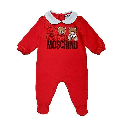 LDA14I/50109 MOSCHINO BABY UNISEX ROMPERS