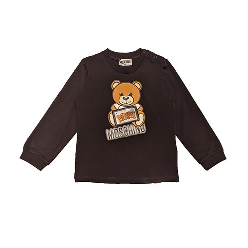 LBA12/60100 MOSCHINO BABY UNISEX LONG SLEEVE T-SHIRT