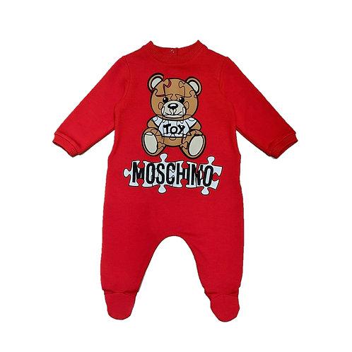 LDA14/50109 MOSCHINO BABY UNISEX ROMPERS