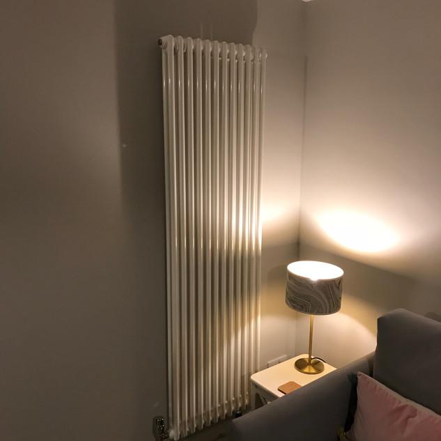 New lounge area and column radiator