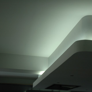 Drop ceiling feature with lighting