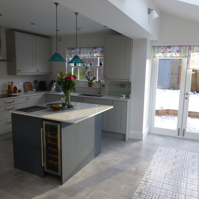Side extension with new kitchen