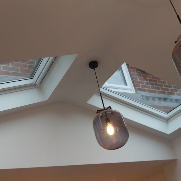 Velux windows in the pitched roof