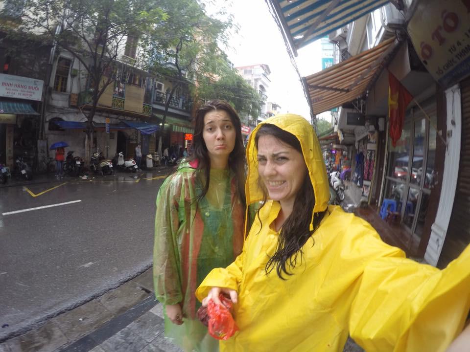 Upršané počasie Hanoi