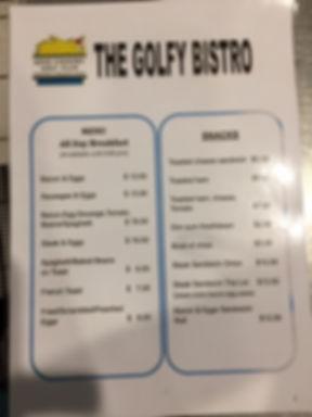 The Golfy Bistro menu page 1.JPG