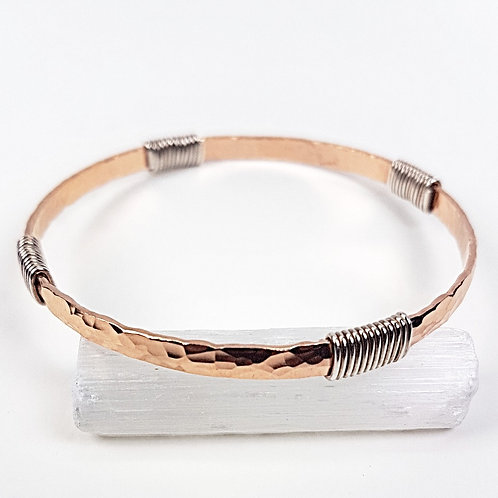 Great rose gold with silver twisted bracelet