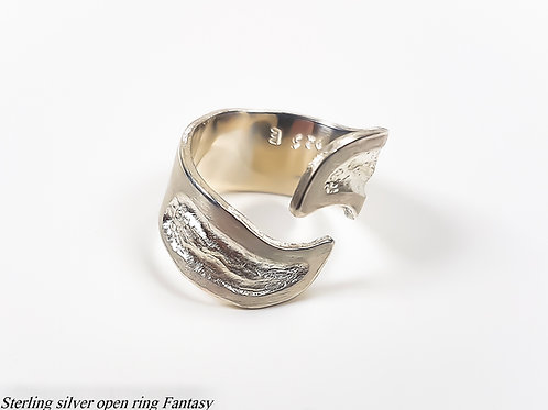 Sterling silver open ring Fantasy