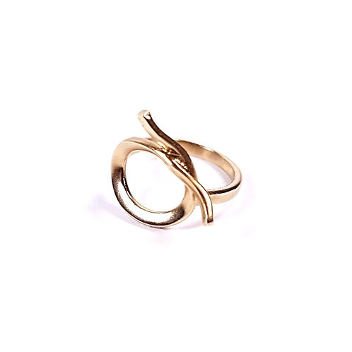 Gold Small Circle ring