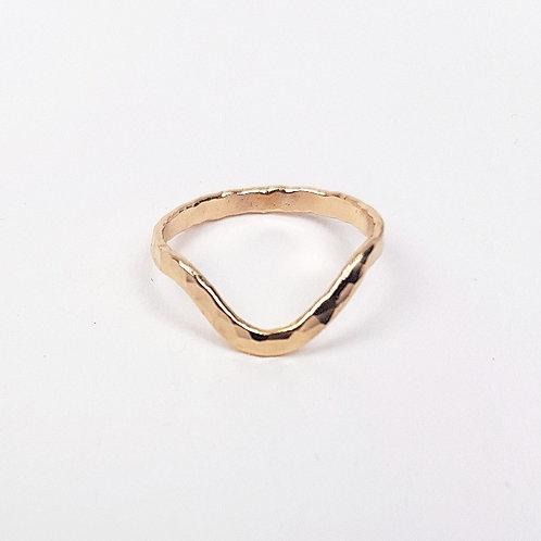 Gold ring Wishbone