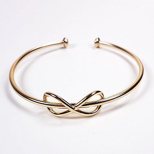 Delicate gold bracelet Infinity