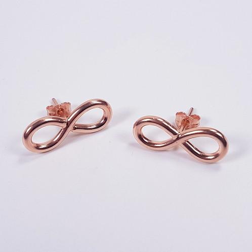 Rose Gold Earrings Infinity