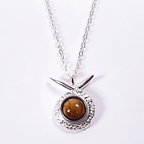 Sterling silver small pendant with Tiger's eye stone