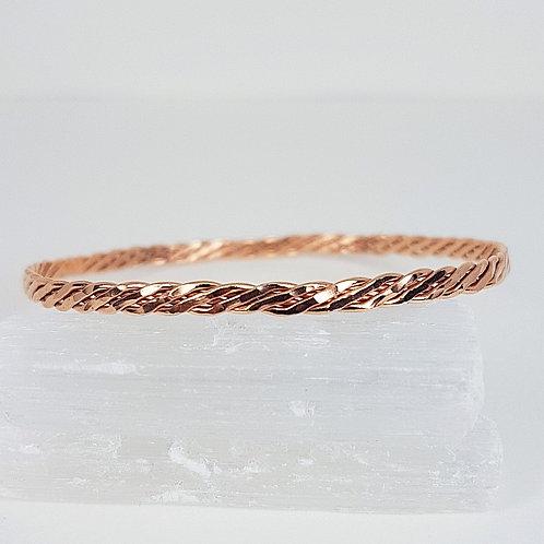 Rose gold hammered bracelet Braid