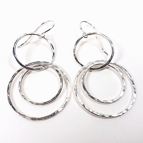 Sterling silver Interlocking circles earrings