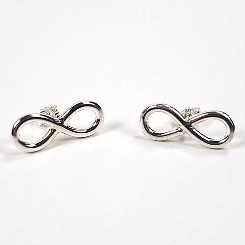 Sterling silver stud earrings Infinity