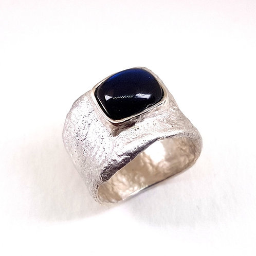 Sterling silver ring with Blue Labradorite stone