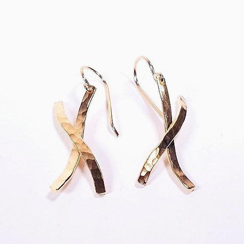 Gold Wave earrings