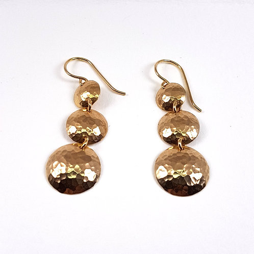 Gold Lightening earrings Grapelets