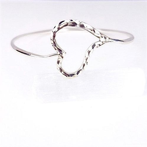 Romantic silver bracelet Open Heart