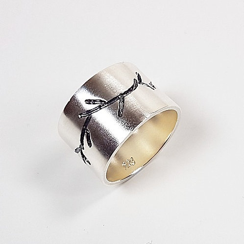Sterling silver ring The Twig