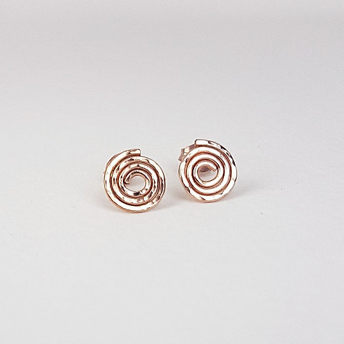 Lovely rose gold small stud earrings Caracol