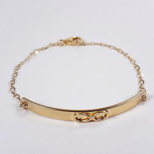 Gold bracelet Infinity