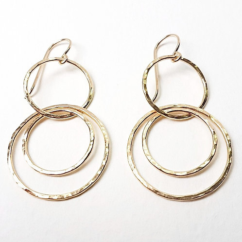 Gold Interlocking circles earrings