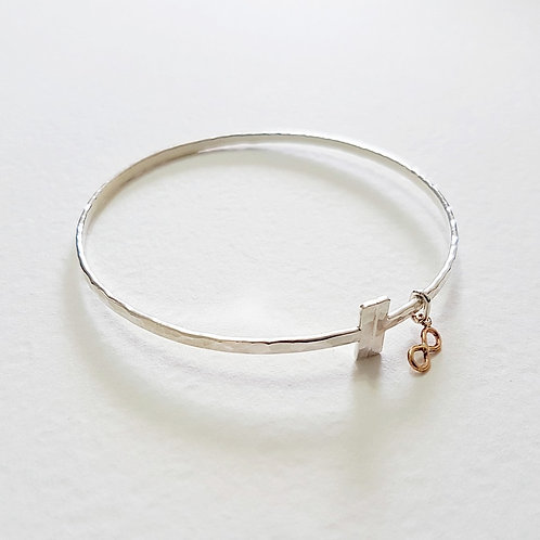 Silver with gold Infinity bracelet
