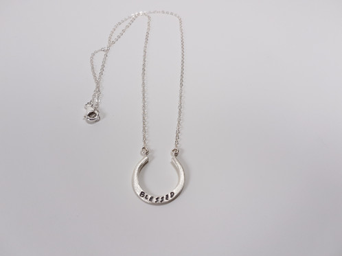 Elegant sterling silver horseshoe pendant charm blessed modern elegant sterling silver horseshoe pendant charm blessed aloadofball Gallery