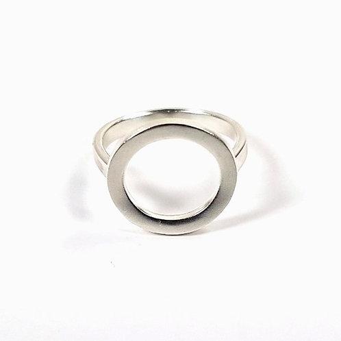 Silver ring small Simple circle