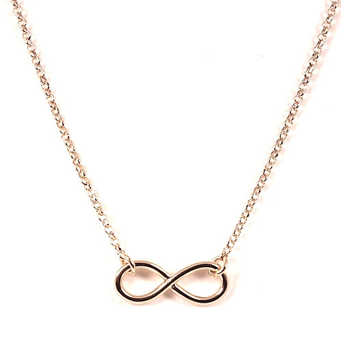 Gold necklace pendant Infinity