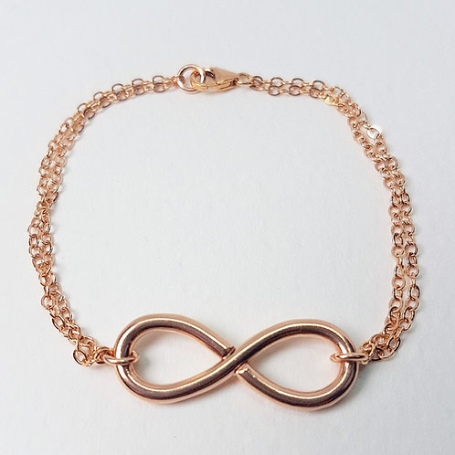Rose gold bracelet Infinity
