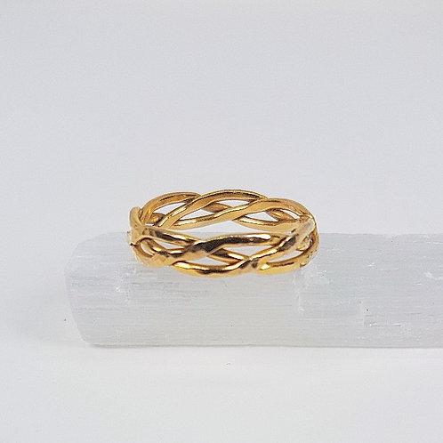 Gold ring Braid