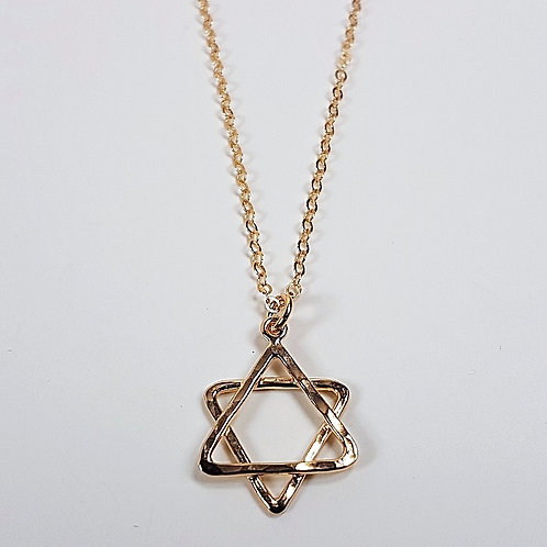 Gold pendant Star of David