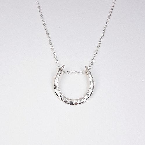 Elegant silver Horseshoe pendant charm