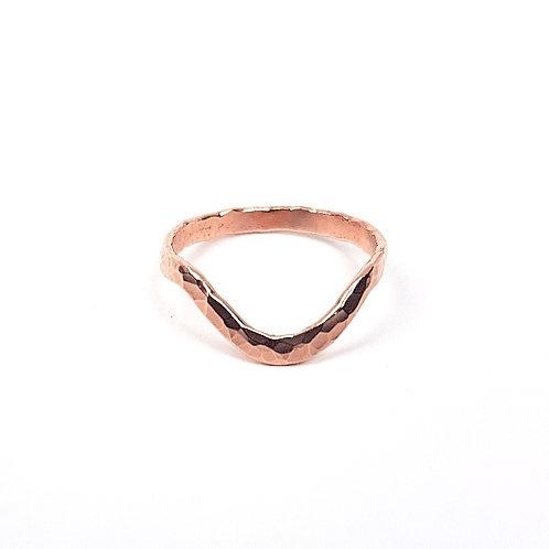 Rose gold ring Wishbone