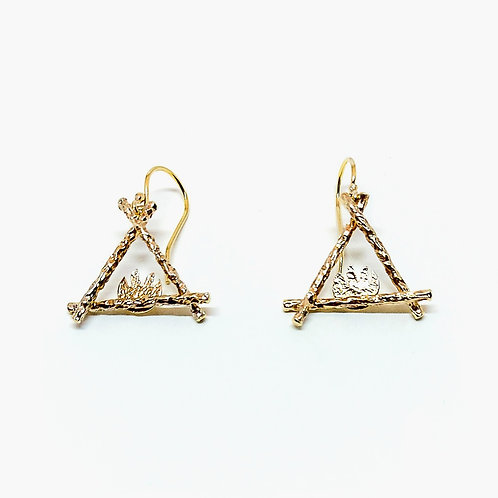 Elegant gold plated sterling silver earrings