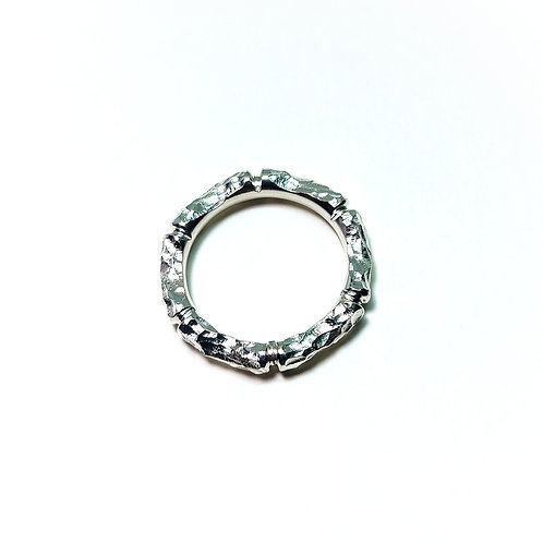 Delicate Silver Bamboo Ring