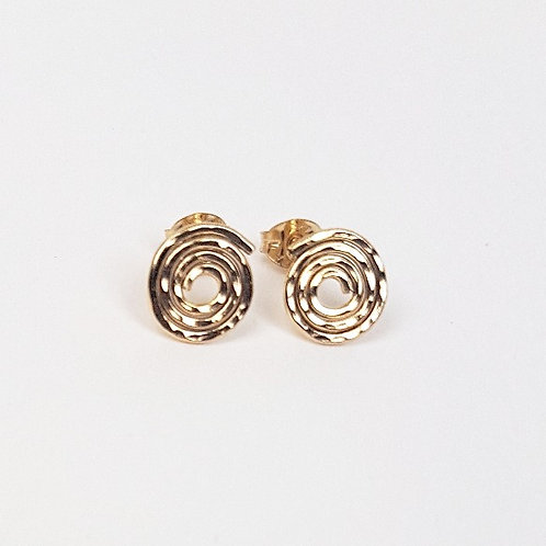 Lovely gold small stud earrings Caracol