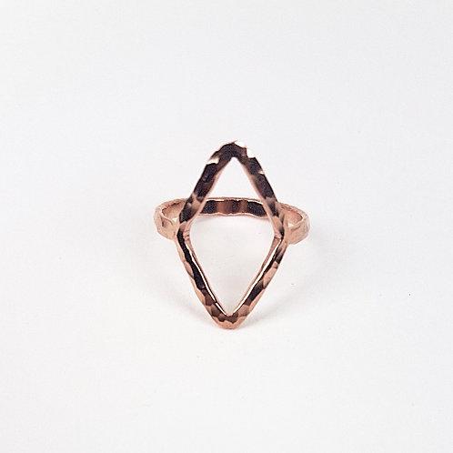 Rose gold Almaz open ring