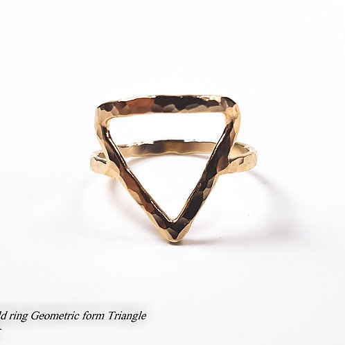Gold ring Geometric form Triangle