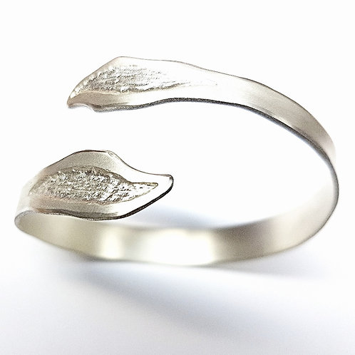 Solid sterling silver open bracelet Fantasy