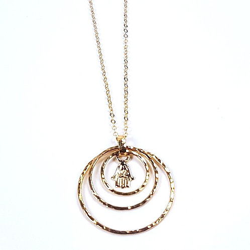 Gold Three hoops pendant