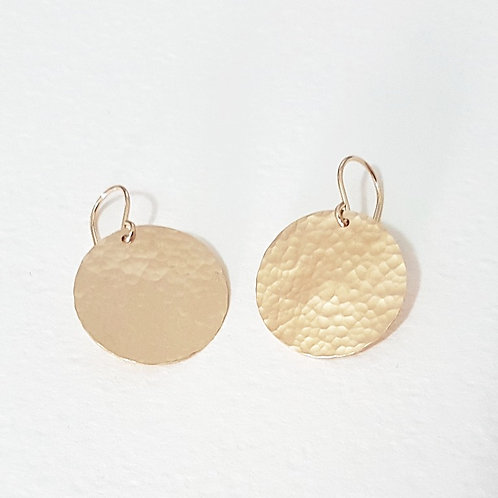 Fancy gold medium earrings