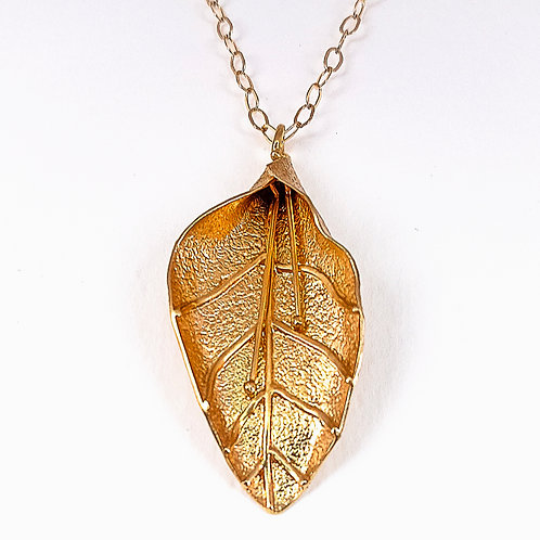 Amazing silver gold plated pendant Leaf