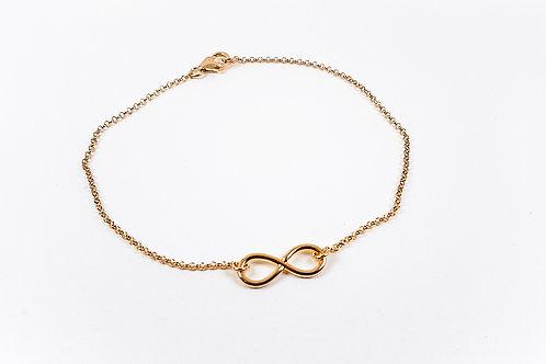 Gold Ankle bracelet Infinity