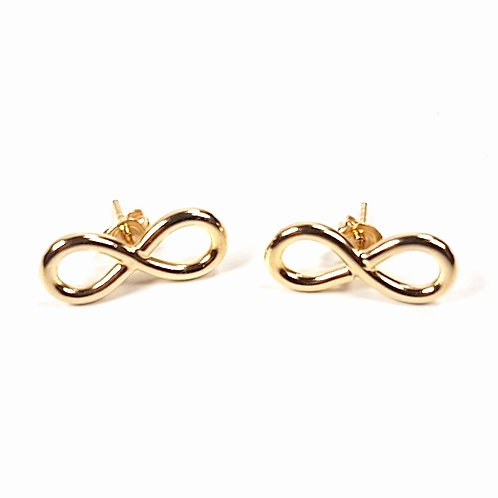 Gold stud earrings Infinity
