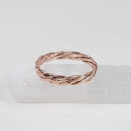 Rose gold ring Braid