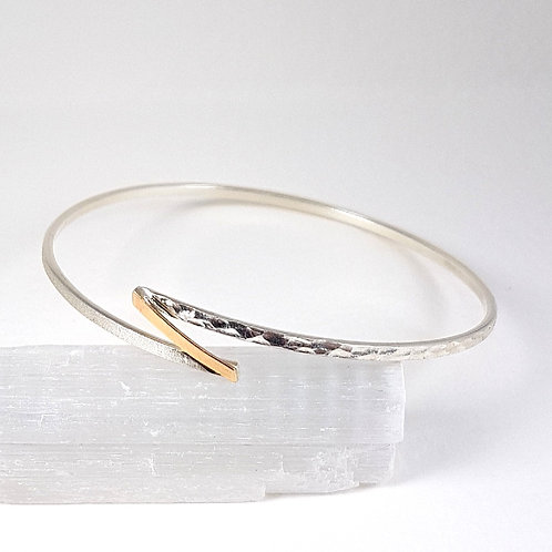 Delicate bracelet in silver and 9k gold