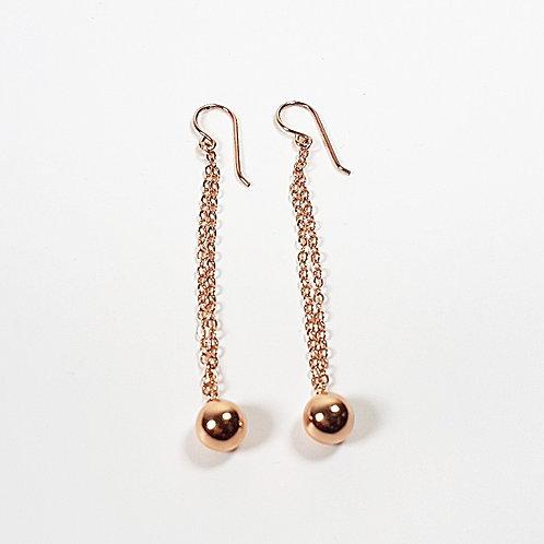 Rose gold Ball Hook earrings